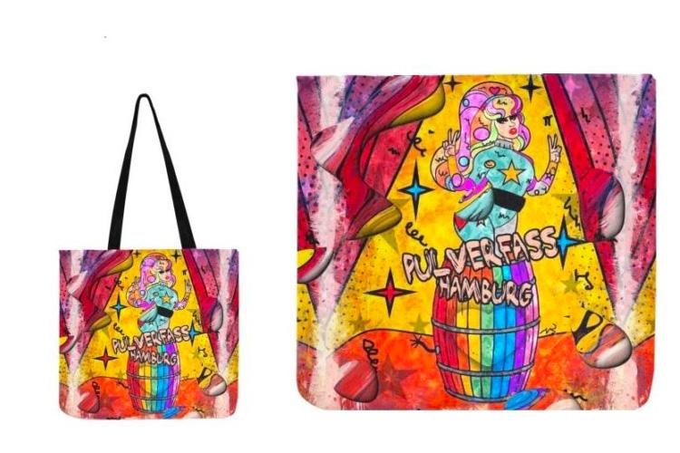 Nico Bieleow gestaltet Pulverfass Einkaufstasche